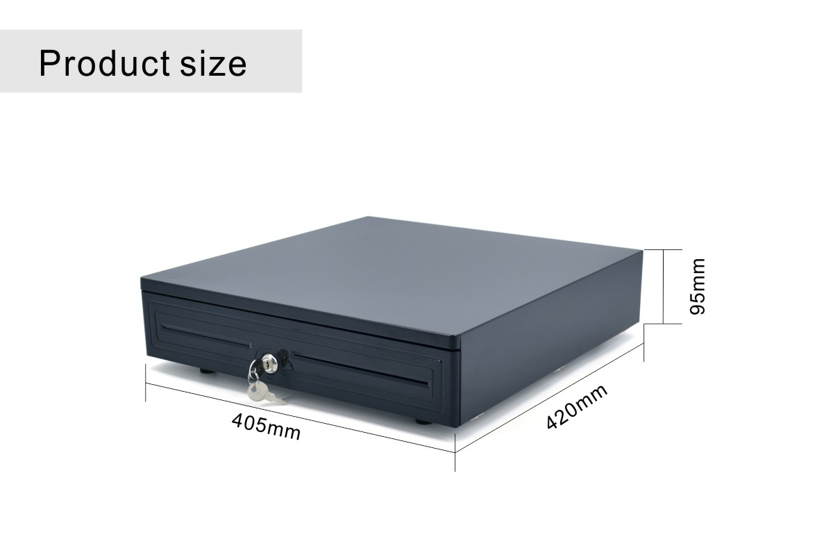 Dimensions of cash drawers with removable coin trays