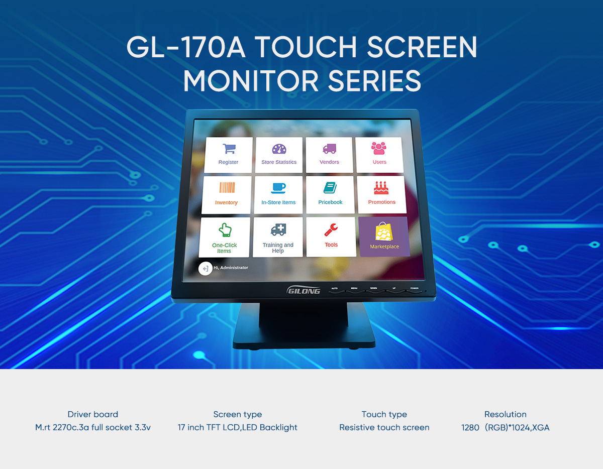 LCD 17 inch point of sale monitor