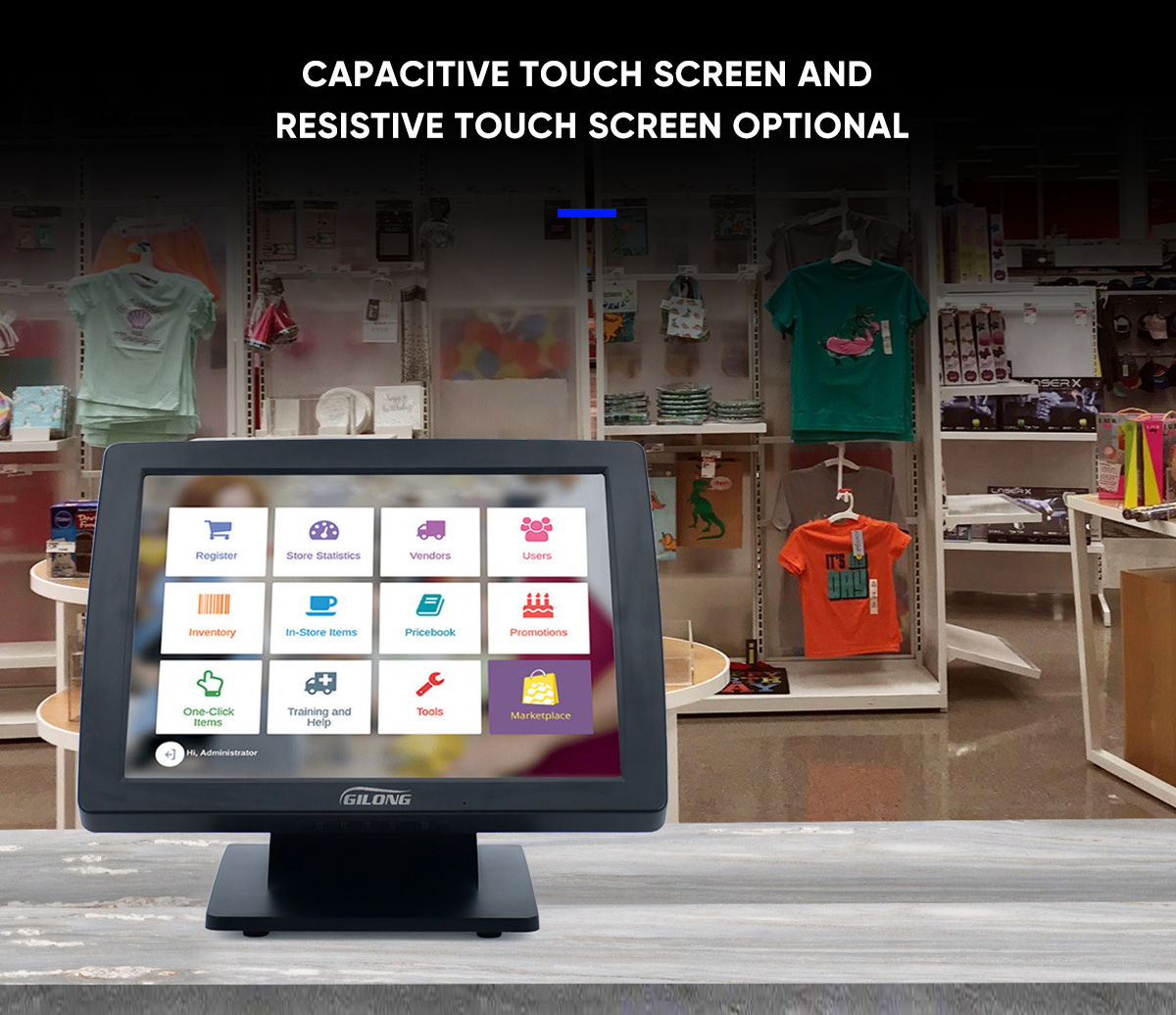 supermarket pos touch screen